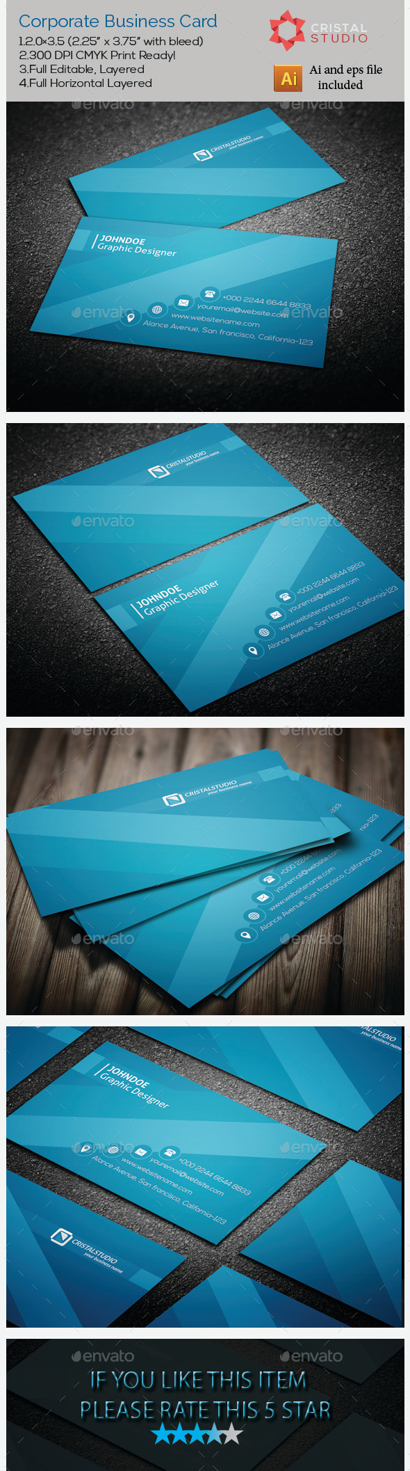 GraphicRiver Corporate Business Card 9177754