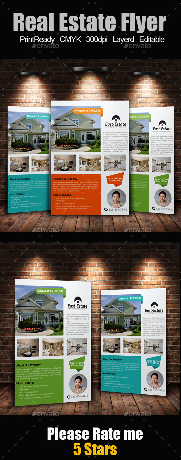 GraphicRiver A4 Real Estate Flyer 9177780