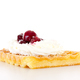 Brussels waffle with whipping cream and sour cherries - PhotoDune Item for Sale