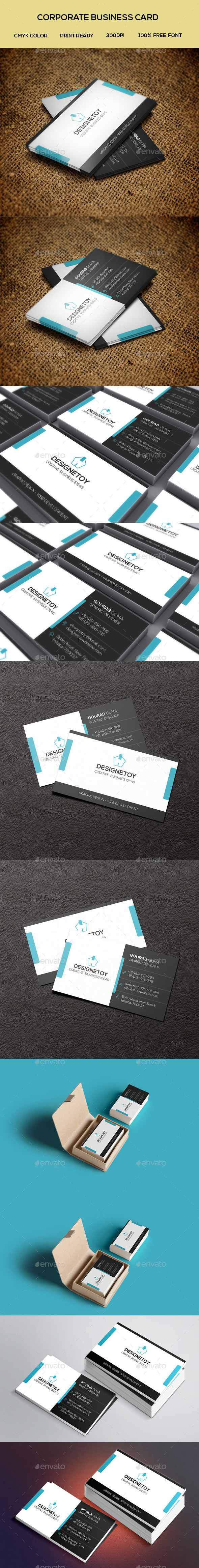 GraphicRiver Creative Corporate Business Card 9177873