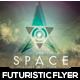 Space Futuristic Flyer Design v-02 - GraphicRiver Item for Sale