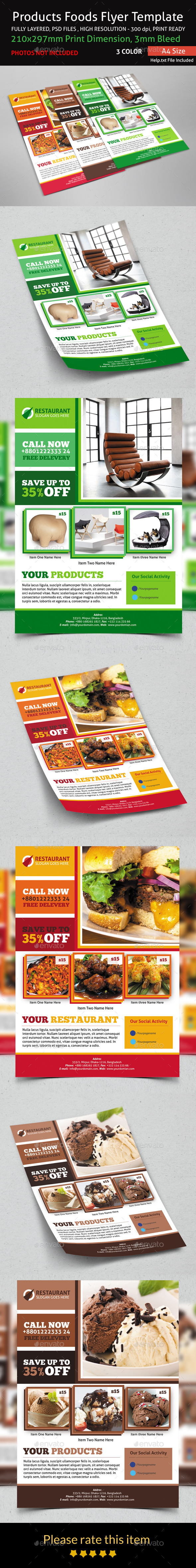 GraphicRiver Products Foods Flyer Template 9178057
