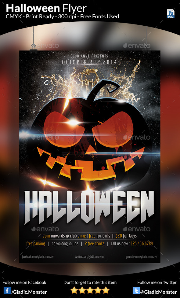 GraphicRiver Halloween Party Flyer 9178173
