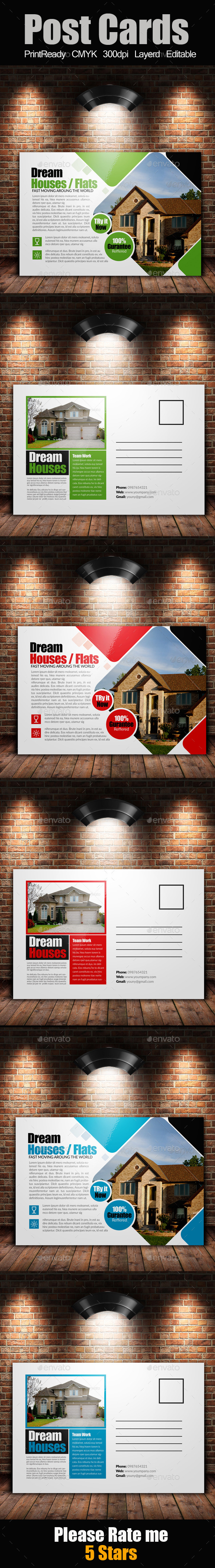 GraphicRiver Real Estate Postcards 9178222