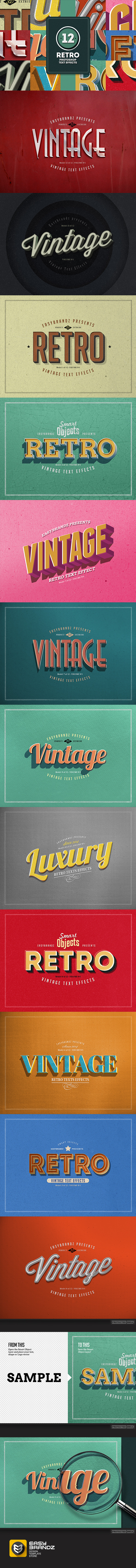 GraphicRiver Retro Text Effects Vol.01 9178594