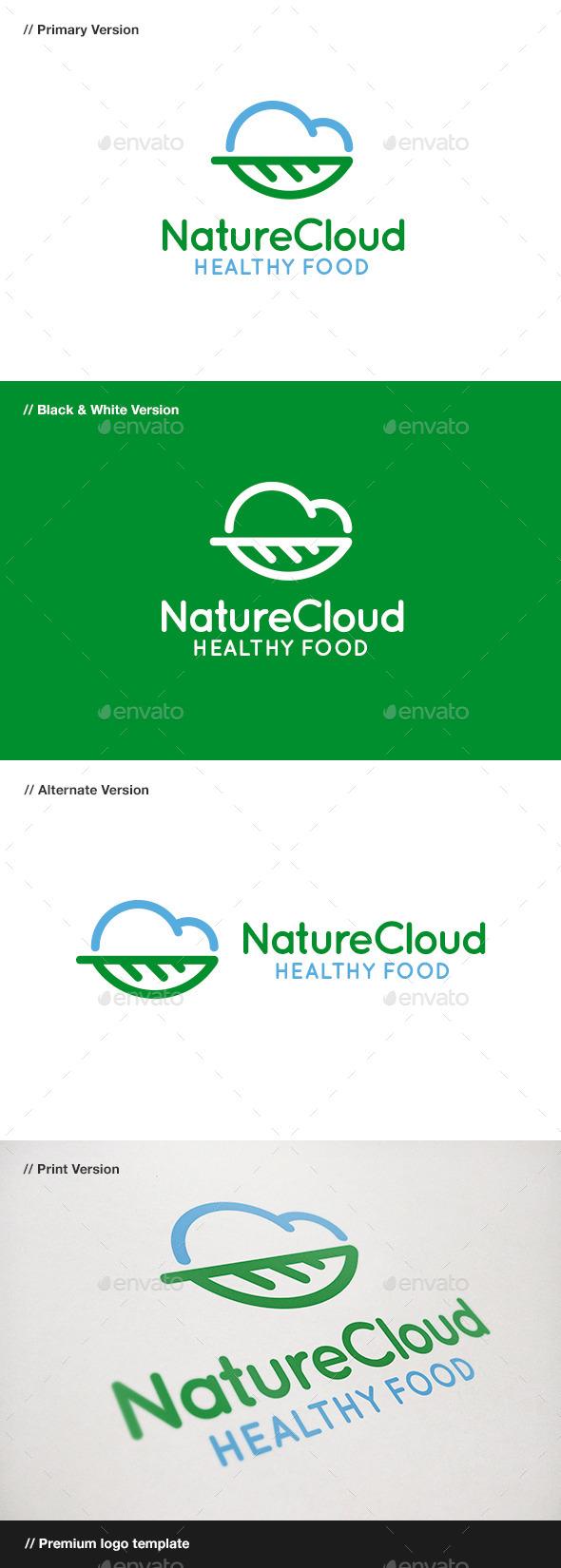 GraphicRiver Nature Cloud Logo 9178747