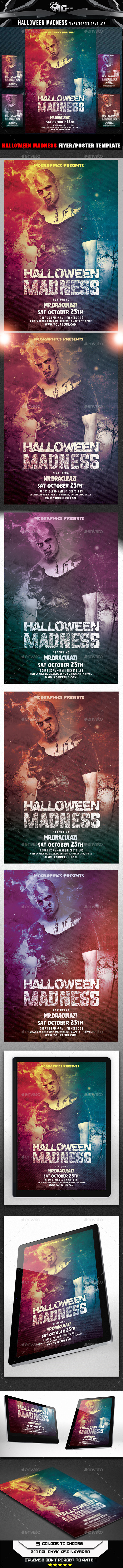 GraphicRiver Halloween Madness Flyer Template 9178762
