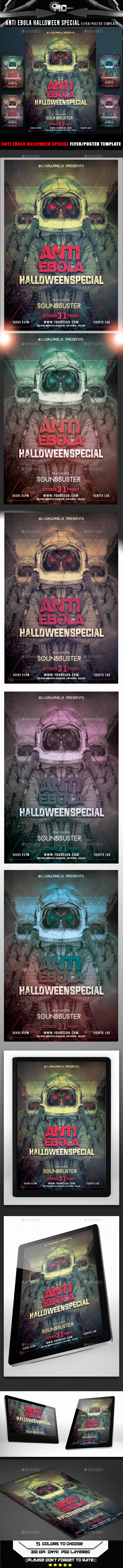 GraphicRiver Anti Ebola Halloween Special Flyer Template 9178807