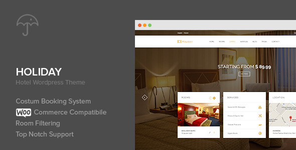 ThemeForest Holiday Hotel WordPress Theme 9144215