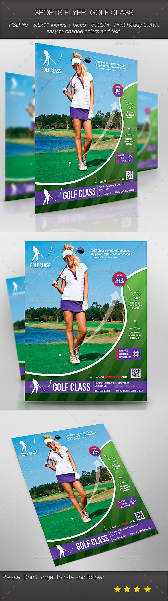 GraphicRiver Sports Flyer Golf Class 9179286