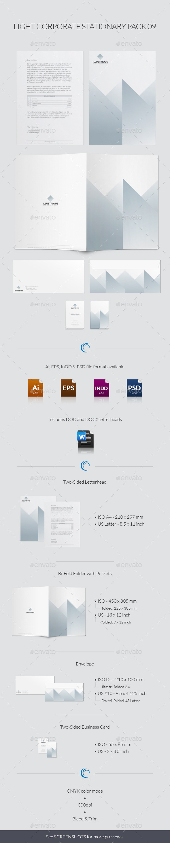 GraphicRiver Light Corporate Stationary Pack 09 9179289