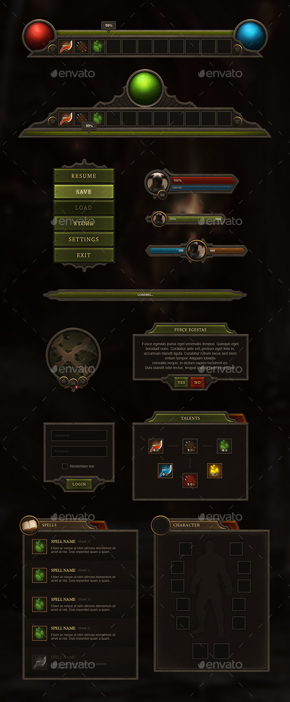 GraphicRiver RPG & MMO User Interface 9179309
