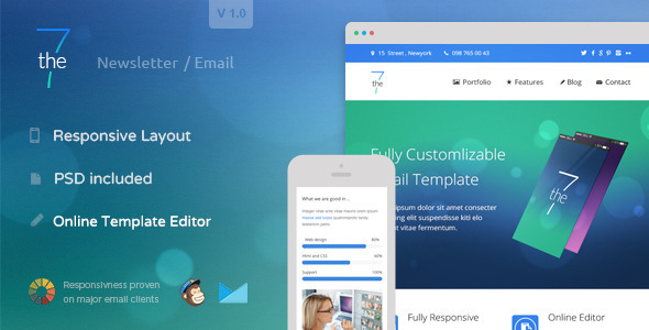 ThemeForest The7 Responsive Email Template & Online Editor 9179632