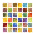 Colorful paint square background on watercolor paper - PhotoDune Item for Sale