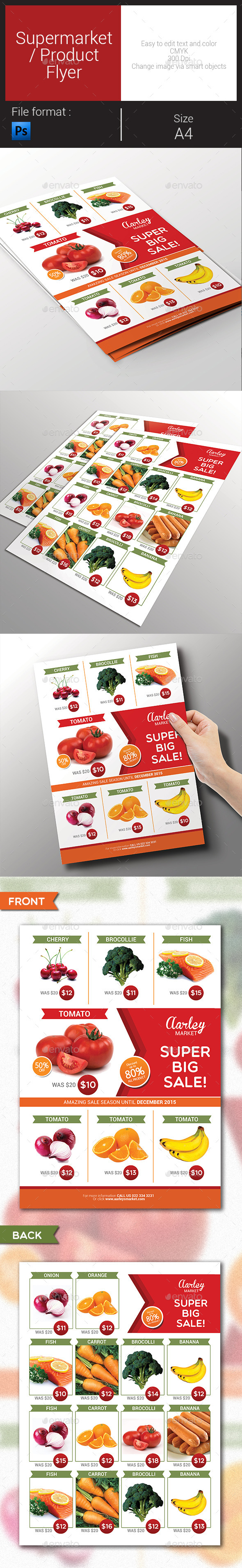 GraphicRiver Supermarket Product Flyer 9164447