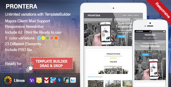 ThemeForest Prontera Responsive Email & Template Builder 9179876