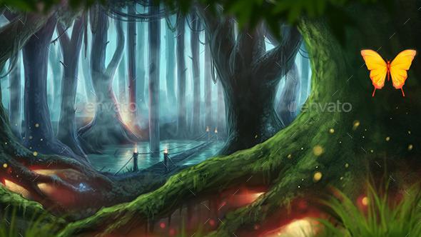 GraphicRiver Fantasy Forest 9180070