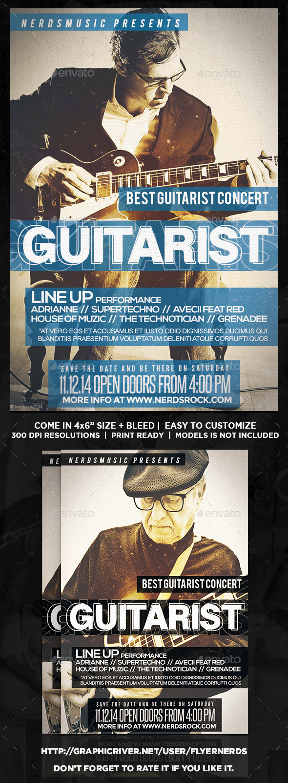 GraphicRiver The Guitarist Music Flyer 9148002