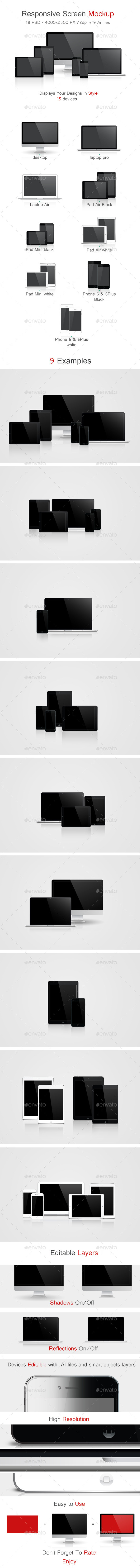 GraphicRiver Responsive Screen Mockup 9180177