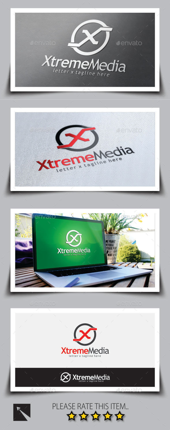 GraphicRiver Xtreme Media Letter X Logo Template 9180178