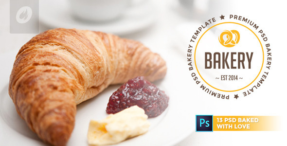 ThemeForest Bakery Cakery & Bakery PSD Template 9180184
