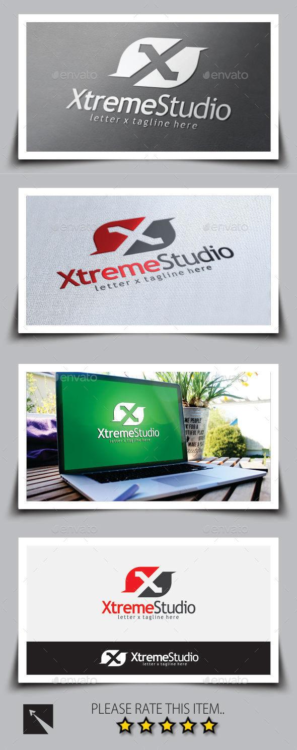 GraphicRiver Xtreme Studio Letter X Logo Template 9180208