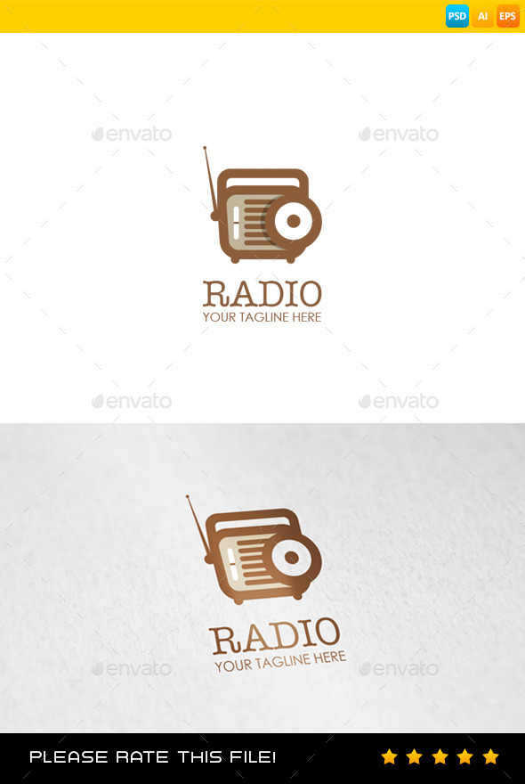 GraphicRiver Radio Logo 9144090