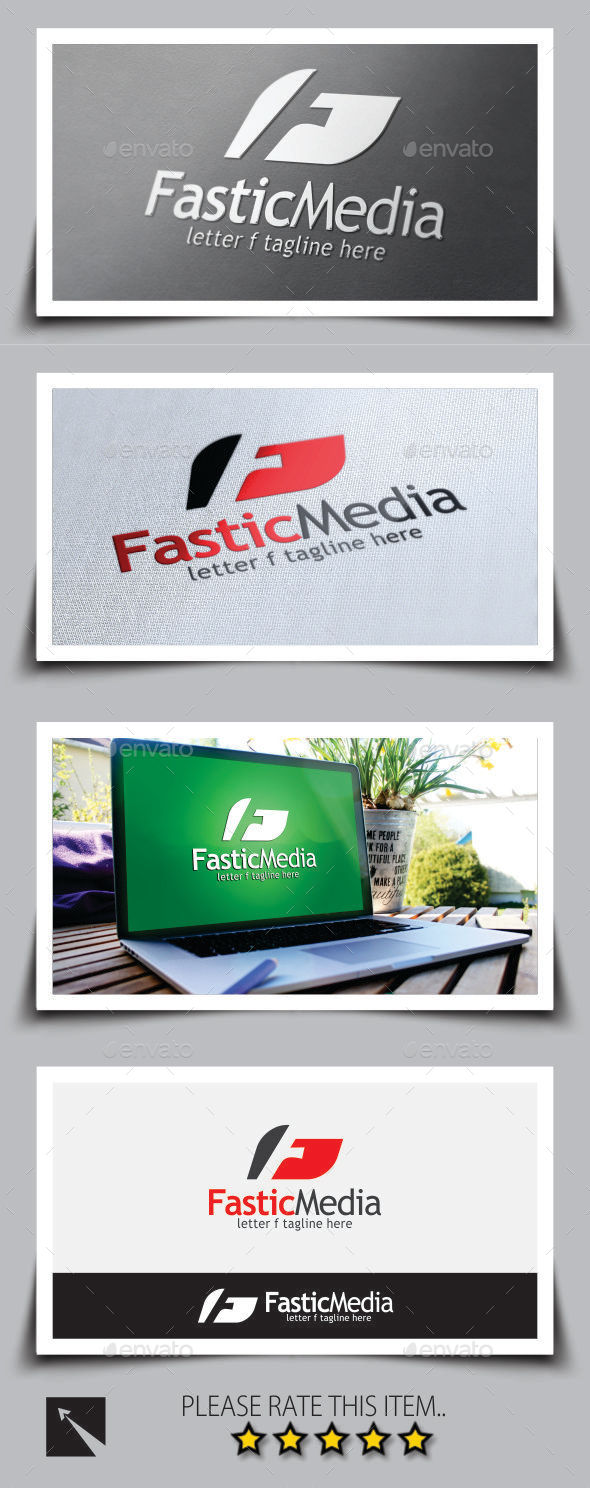 GraphicRiver Fastic Media Letter F Logo Template 9180858