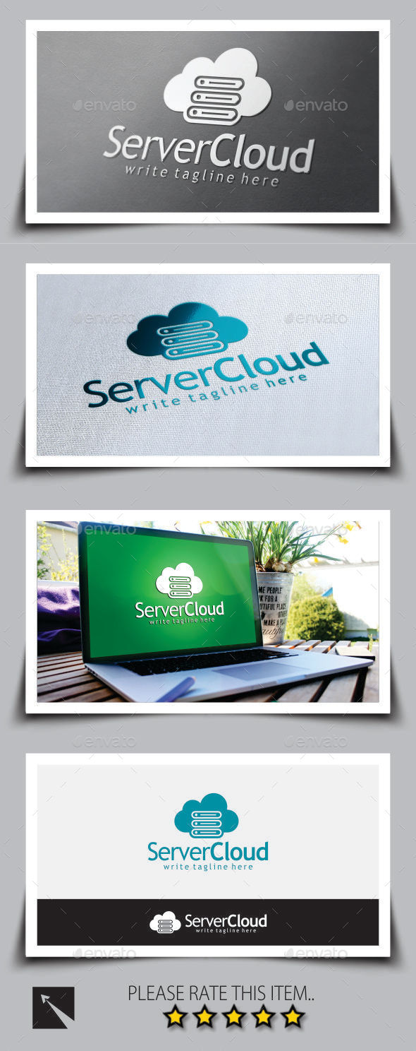GraphicRiver Server Cloud Logo Template 9181811