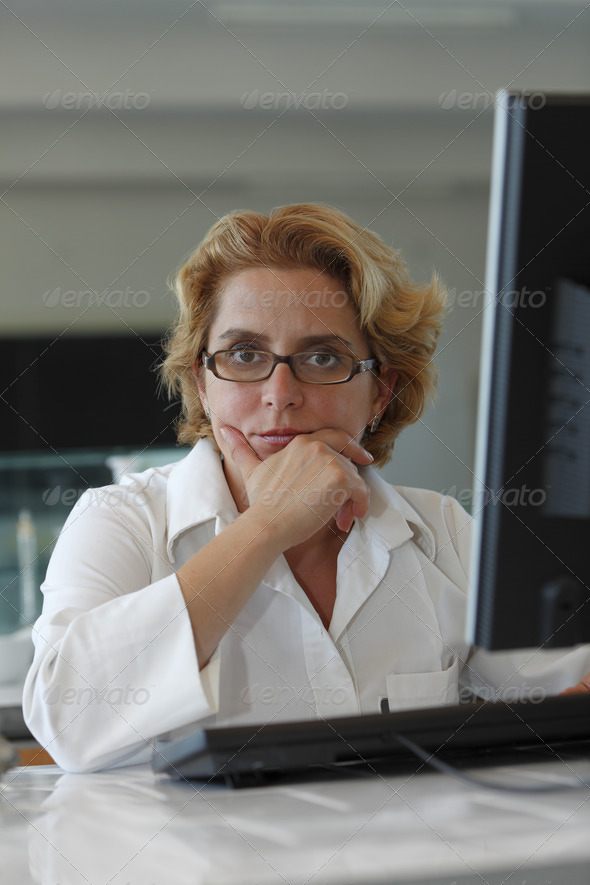 Researcher Thinking - Stock Photo - Images
