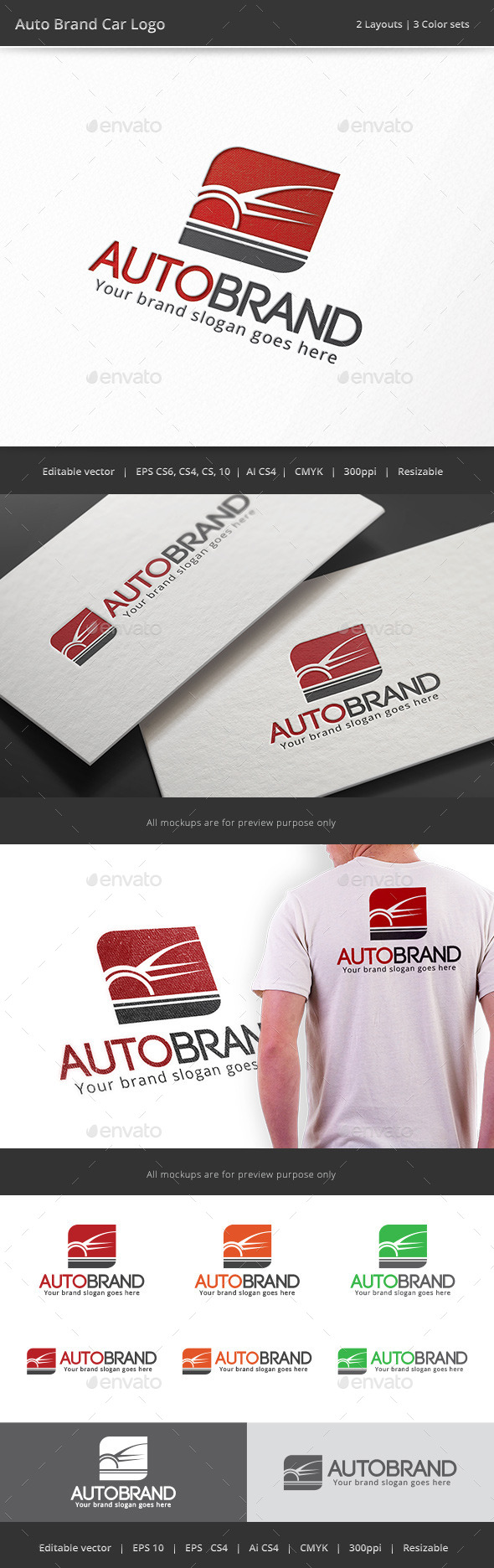 GraphicRiver Auto Brand Car Logo 9182197
