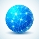 Blue Technology Geometric Ball. - GraphicRiver Item for Sale