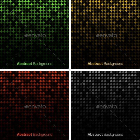 Set of Abstract Technology Backgrounds