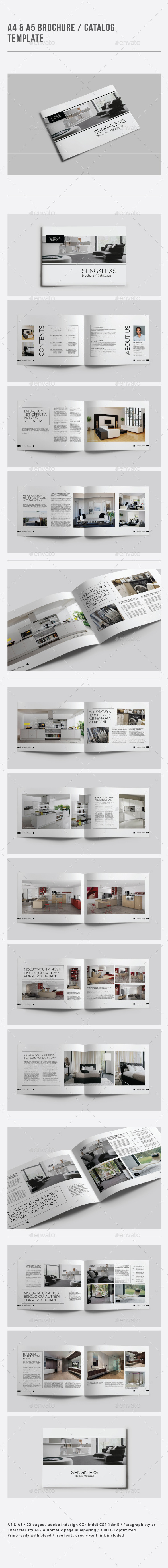 GraphicRiver A4 & A5 Brochure Catalogue Template 9182744