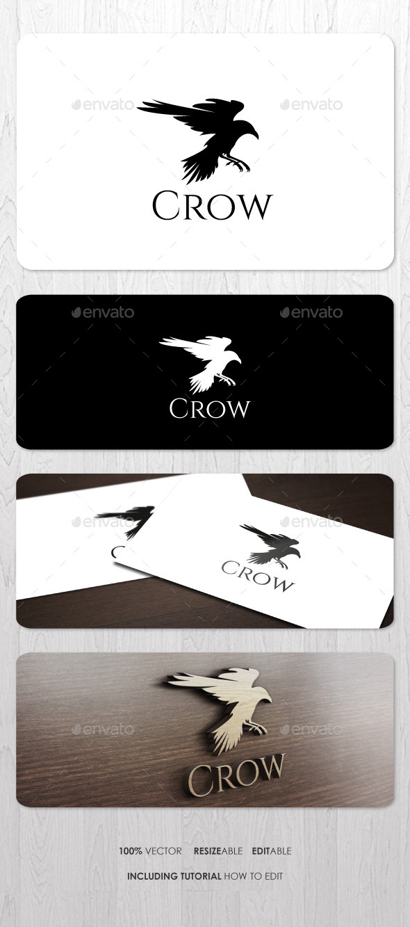 GraphicRiver Crow Logo 9182801