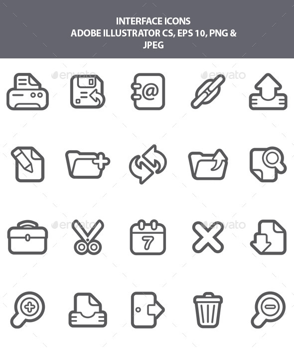 GraphicRiver Interface Icons 9182816