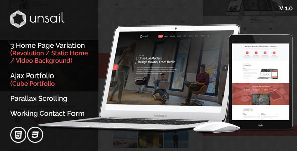 ThemeForest Unsail One Page Html Template 9100756