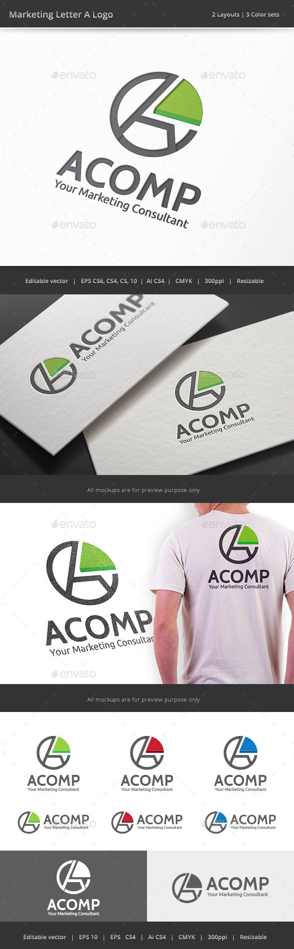 GraphicRiver Marketing Letter A Logo 9182864