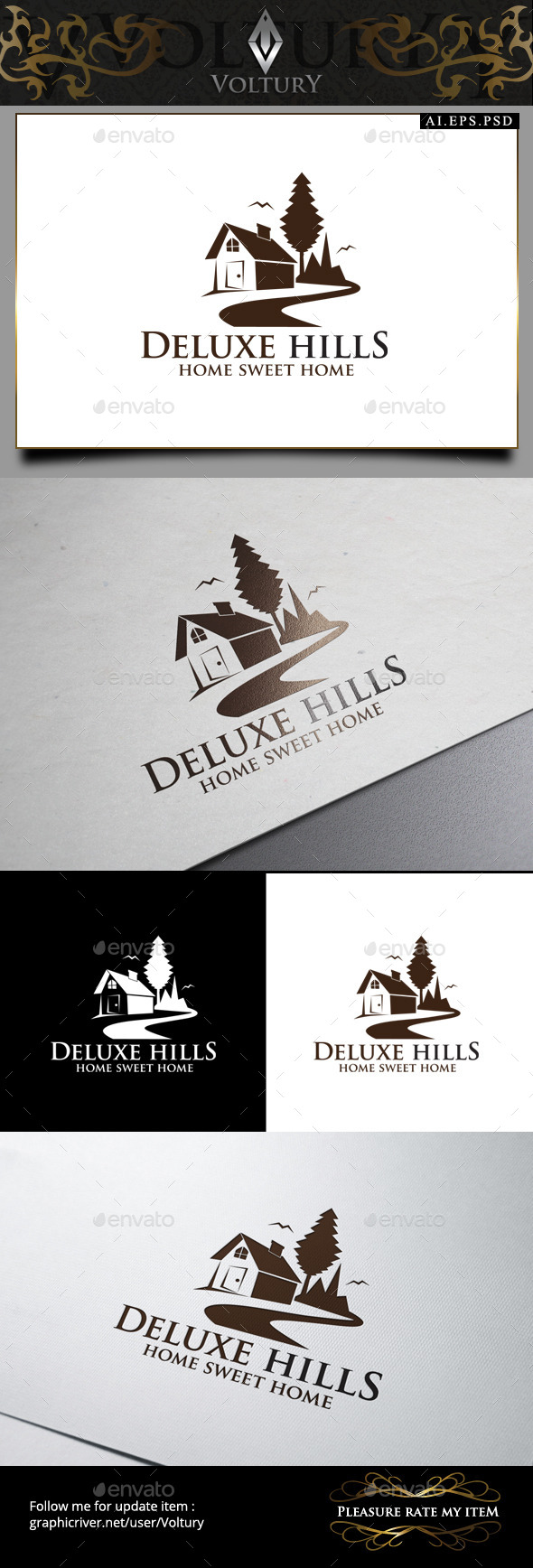 GraphicRiver Deluxe Hills Logo 9182866