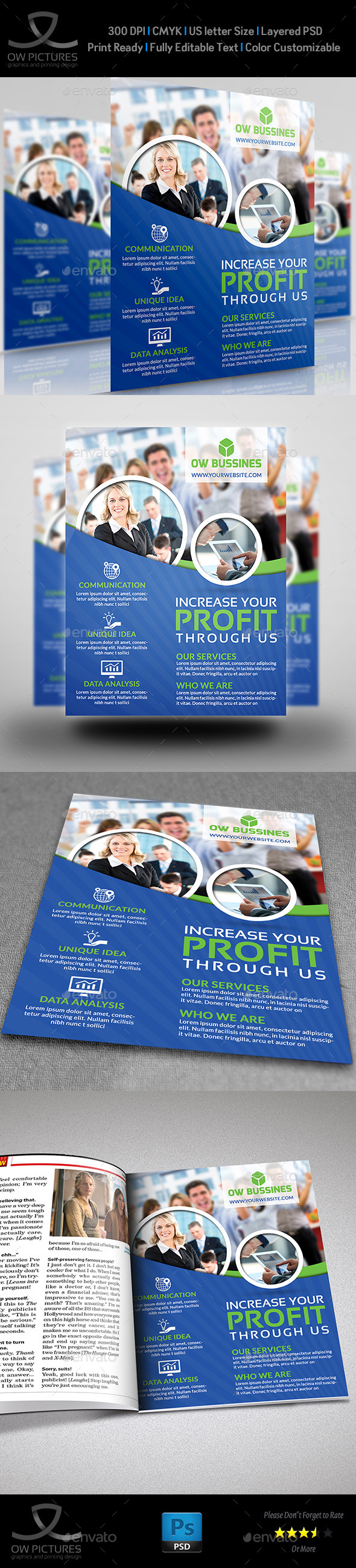 GraphicRiver Corporate Business Flyer Template Vol.16 9182889