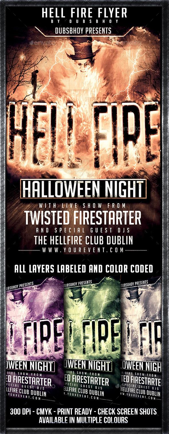 GraphicRiver Hellfire Halloween Flyer 9183085