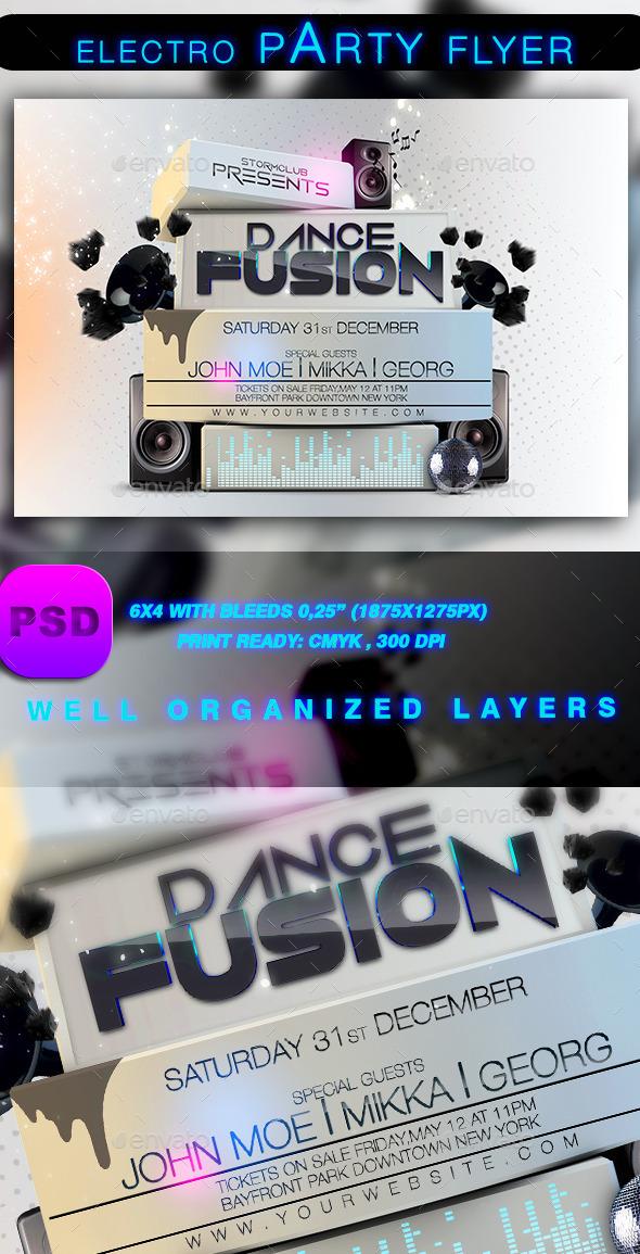 GraphicRiver Electro Party Flyer 9183596