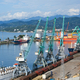 Ships, wagons and cranes in seaport - PhotoDune Item for Sale
