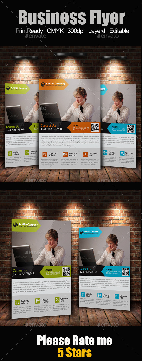 GraphicRiver A4 Business Flyer 9134291