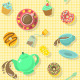 Coffee Break and Tea Party Patterns - GraphicRiver Item for Sale