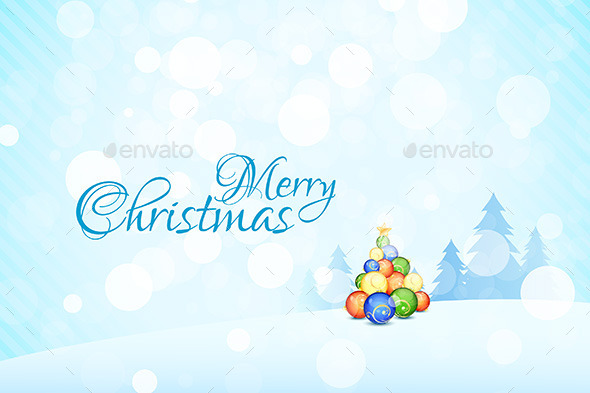 GraphicRiver Merry Christmas Landscape 9183729