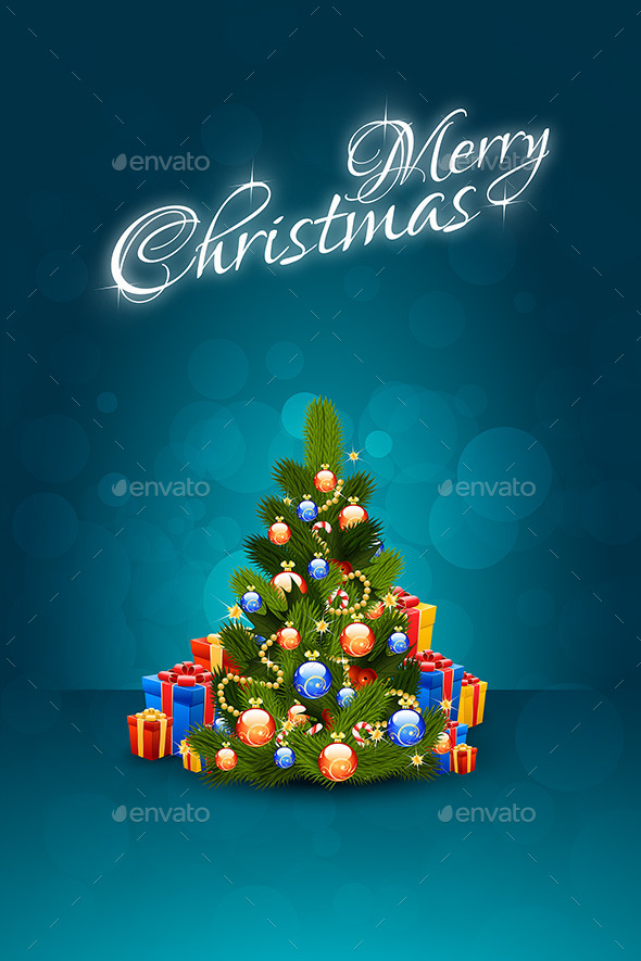 GraphicRiver Christmas Greeting Card Merry Christmas Lettering 9183738