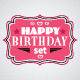 Pink Happy Birthday Congratulations - GraphicRiver Item for Sale