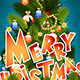 Christmas Greeting Card. Merry Christmas Lettering - GraphicRiver Item for Sale