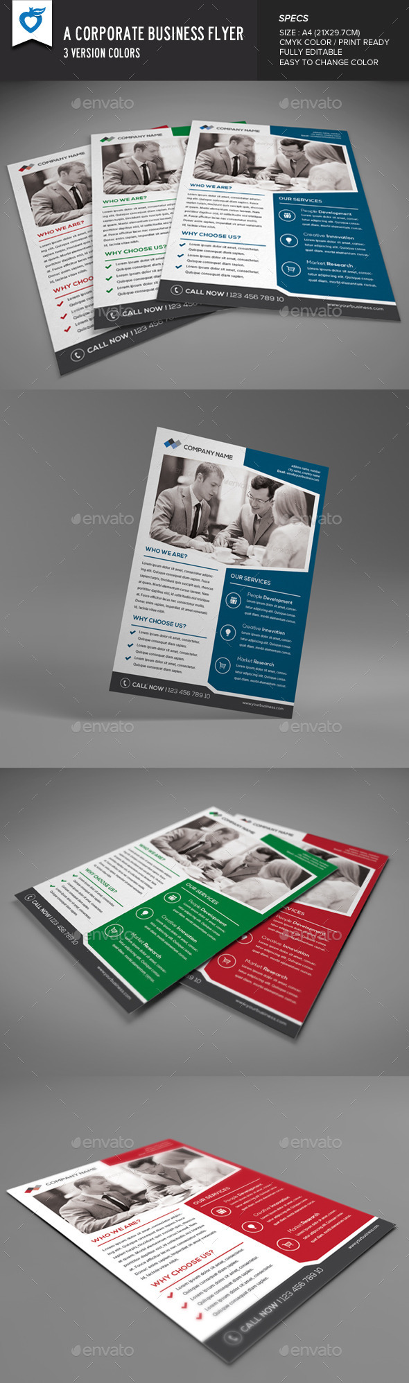 GraphicRiver A Corporate Business Flyer 9183774